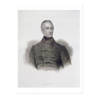 Alphonse de Lamartine, engraved by Pierre Pelee (1 Postcard