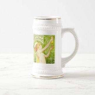 Alphonse Mucha Absinthe Robette Beer Mug