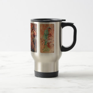 Alphonse Mucha and The four seasons Travel Mug