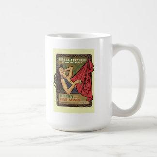 Alphonse Mucha Art Deco Basic White Mug