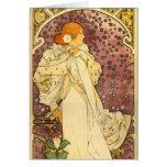 Alphonse Mucha Art Deco Card