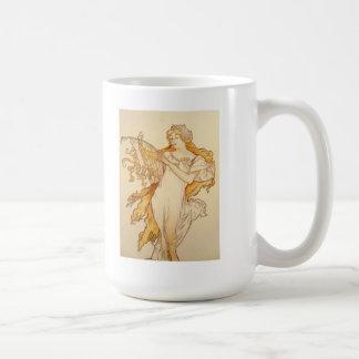 Alphonse Mucha Art Deco Coffee Mug