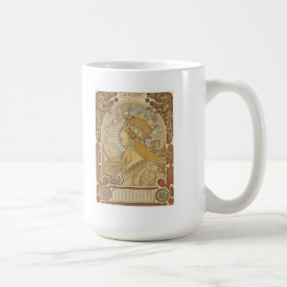 Alphonse Mucha Art Deco Mugs
