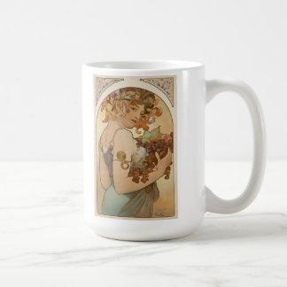 Alphonse Mucha Art Deco Coffee Mugs