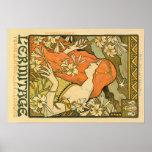 Alphonse Mucha Art Deco Print