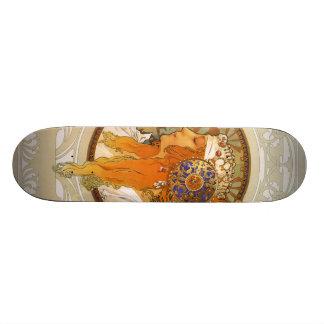 Alphonse Mucha Art Deco Skateboards