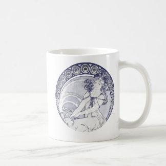Alphonse Mucha Art Nouveau Coffee Mug