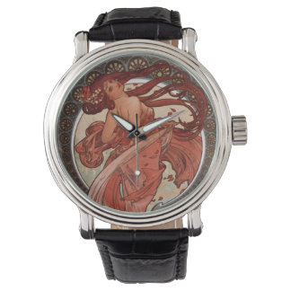 Alphonse Mucha Art Nouveau Lady Watch