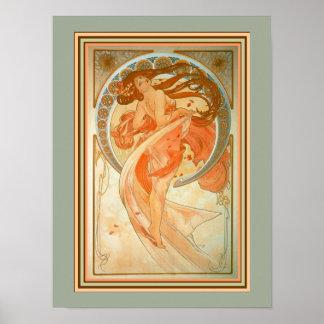 Alphonse Mucha Art Nouveau Poster 12 x 16