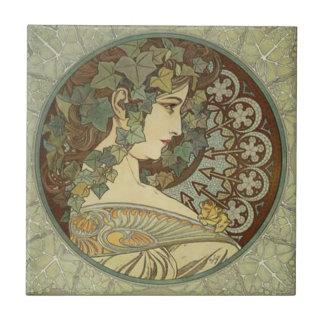 Alphonse Mucha Art Nouveau Tiles