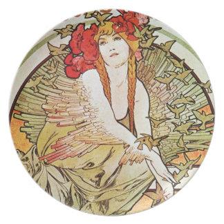Alphonse Mucha Art Plates