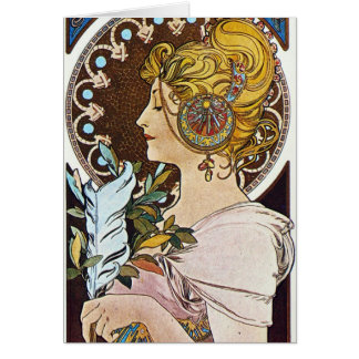 Alphonse Mucha Artwork Note Card