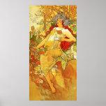 Alphonse Mucha Autumn Poster