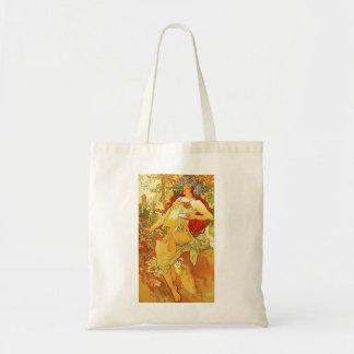 Alphonse Mucha Autumn Tote Bag