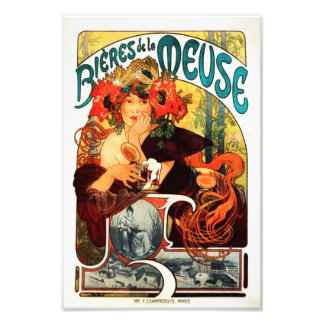 Alphonse Mucha Beer of the Muse Print Photo Art