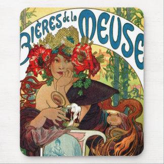Alphonse Mucha Bieres De La Meuse Mouse Pad