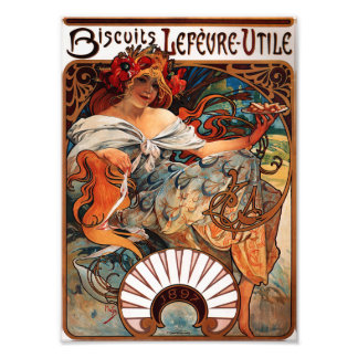 Alphonse Mucha Biscuits Lefevre Utile Print Photographic Print