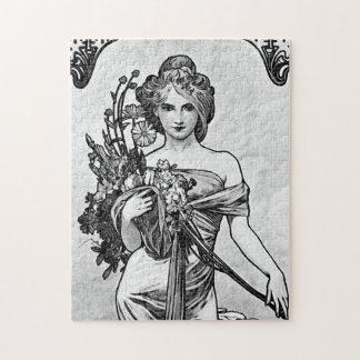 Alphonse Mucha Broken Blossoms Jigsaw Puzzle