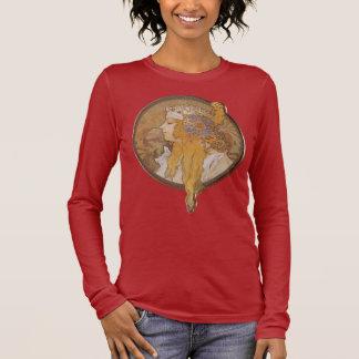 Alphonse Mucha ~ Byzantine Head: The Blonde Long Sleeve T-Shirt
