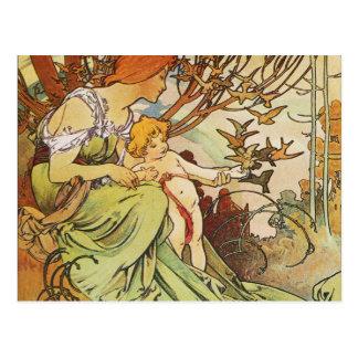 Alphonse Mucha. Chocolat Masson/Mexicain 1897 Postcard