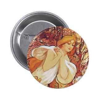 Alphonse Mucha Chocolat Pinback Button