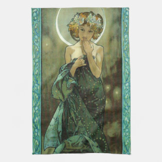 Alphonse Mucha Clair De Lune Kitchen Towel