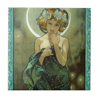 Alphonse Mucha Clair De Lune Tile
