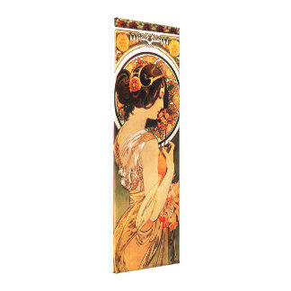Alphonse Mucha Cow Slip Canvas Poster Stretched Canvas Prints