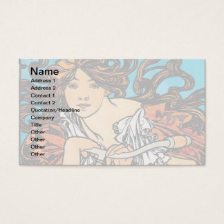 Alphonse Mucha - Cycles Perfecta Retro Art Nouveau Business Card