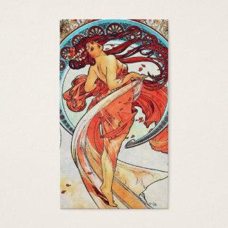 Alphonse Mucha Dance Vintage Art Nouveau Painting Business Card