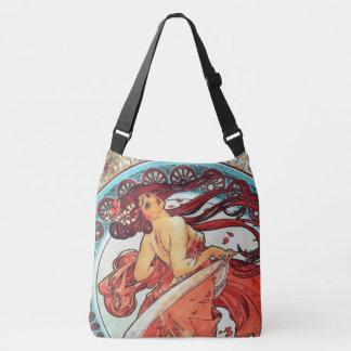 Alphonse Mucha Dance Vintage Art Nouveau Painting Crossbody Bag
