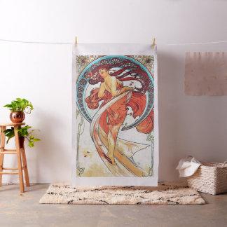 Alphonse Mucha Dance Vintage Art Nouveau Painting Fabric