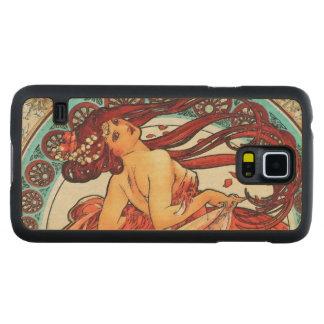 Alphonse Mucha Dance Vintage Art Nouveau Painting Maple Galaxy S5 Case