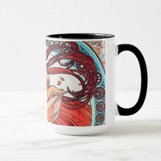 Alphonse Mucha Dance Vintage Art Nouveau Painting Mug