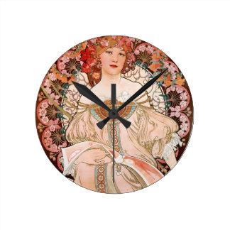 Alphonse Mucha: Daydream (Rêverie) Clocks