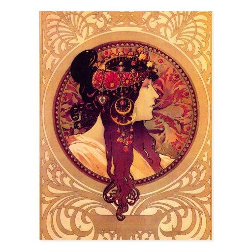 Alphonse Mucha Donna Orechini Postcard