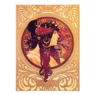 Alphonse Mucha Donna Orechini Print Photo Art