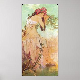 Alphonse Mucha Ete/Summer, 1896 Poster