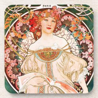 Alphonse Mucha F. Champenois Coasters