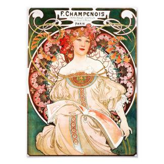 Alphonse Mucha F. Champenois Print Photo Art