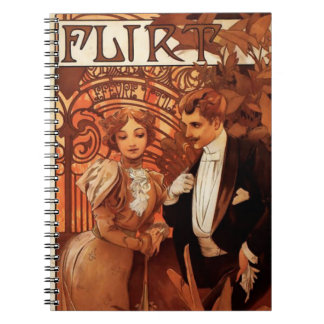 Alphonse Mucha Flirt Notebook