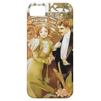 Alphonse Mucha Flirt Vintage Romantic Art Nouveau Case For The iPhone 5