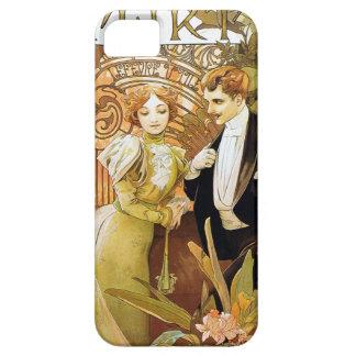 Alphonse Mucha Flirt Vintage Romantic Art Nouveau Case For The iPhone 5
