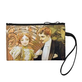 Alphonse Mucha Flirt Vintage Romantic Art Nouveau Change Purses