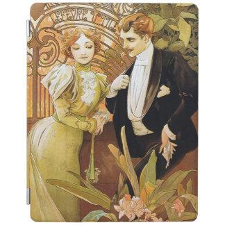 Alphonse Mucha Flirt Vintage Romantic Art Nouveau iPad Cover