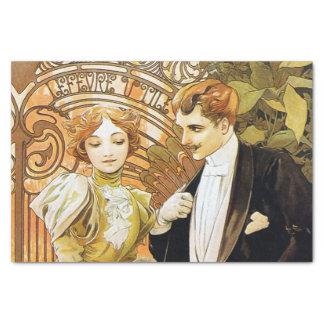 Alphonse Mucha Flirt Vintage Romantic Art Nouveau Tissue Paper