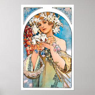 Alphonse Mucha - Flower Poster