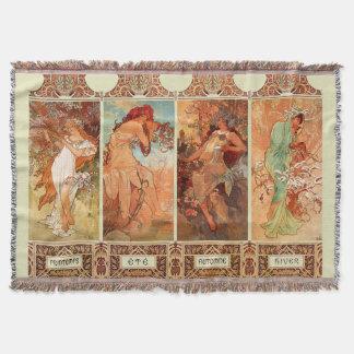 Alphonse Mucha Four Seasons Art Nouveau