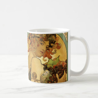 Alphonse Mucha Fruit Painting Coffee Mug
