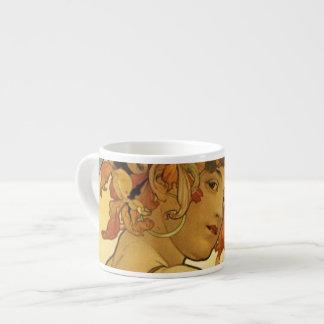 Alphonse Mucha Fruit Painting Espresso Mug